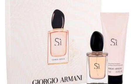 Giorgio Armani Sì dárková kazeta pro ženy parfémovaná voda 30 ml + tělové mléko 75 ml