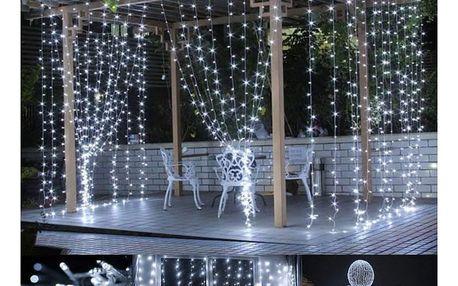 VOLTRONIC® 59571 Vánoční osvětlení - světelný závěs - 3x3 m studená bílá 300 LED