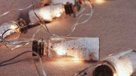 CÔTÉ TABLE Světelný řetěz - Arbre de Noël - bílý, bílá barva, čirá barva, sklo, korek