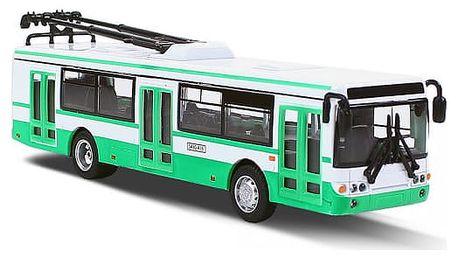 Unikátní kovový trolejbus 16cm na zpětný chod