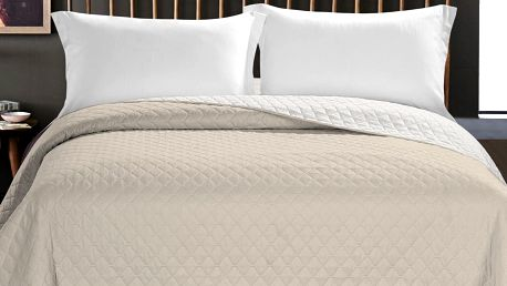 DecoKing Přehoz na postel Axel béžová, 220 x 240 cm