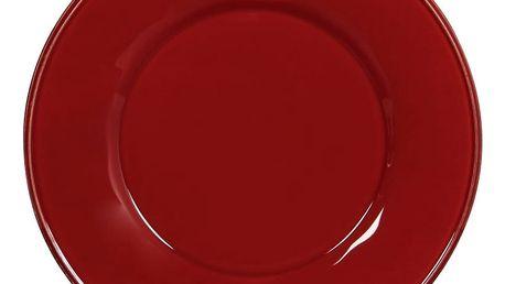 CÔTÉ TABLE Obědový talíř Constance rouge 28 cm, červená barva, keramika