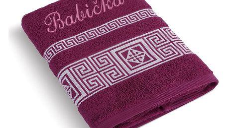 Bellatex Froté ručník 50x100 řecká kolekce 155/022 s výšivkou Babička