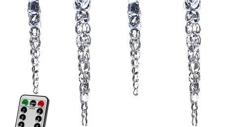 VOLTRONIC® 59790 Vánoční dekorativní osvětlení - rampouchy - 40 LED studená bílá + ovladač