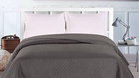 DecoKing Přehoz na postel Adam šedá, 220 x 240 cm
