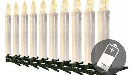 Nexos 47229 Vánoční svíčky na stromeček - bezdrátové - 10 ks