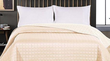 DecoKing Přehoz na postel Salice béžová, 240 x 260 cm