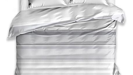 TipTrade Bavlněné povlečení Craft šedá, 140 x 200 cm, 70 x 90 cm
