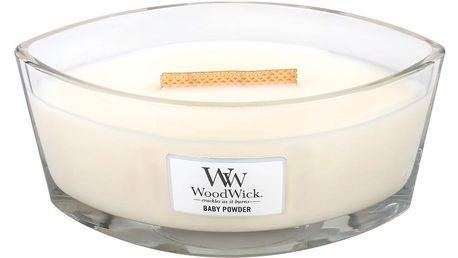 WoodWick Vonná svíčka WoodWick Dětský pudr 454 g, krémová barva, sklo, vosk