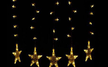 Nexos 28705 Vánoční dekorace - Svítící hvězdy - sada, 100 LED diod