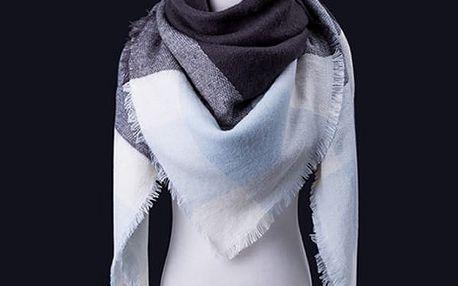 Obrovská šála - maxi šála. Úžasná maxi šála, měkká a teplá, ideální do chladného počasí.