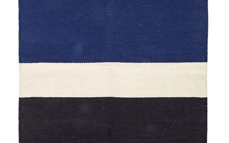 Bloomingville Bavlněný kobereček Multi 60x120 cm, oranžová barva, černá barva, textil
