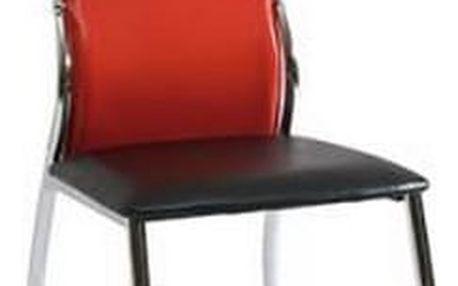 Židle H-238 červeno-černá