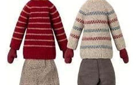 Maileg Vánoční skřítci Pixy Louise a Lukas maxi Slečna Louise, multi barva, textil