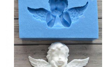 Silikonová forma ve tvaru andělíčka na fondán 3D