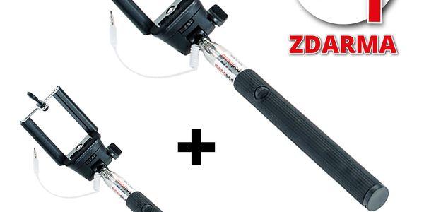 Teleskopická selfie tyč - AKCE 1+1 ZDARMA