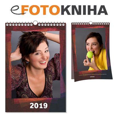 Originální fotokalendář sestavený z rodinných fotek