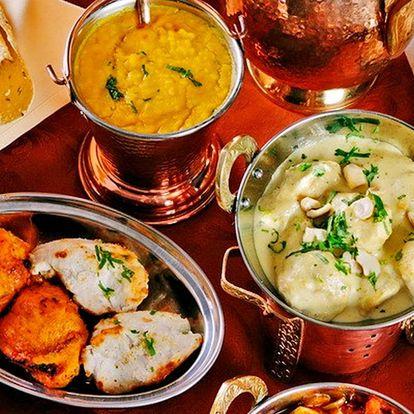 Voucher do indické restaurace: v hodnotě 700 Kč