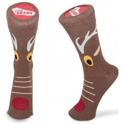 Vánoční ponožky s motivem soba 37-45
