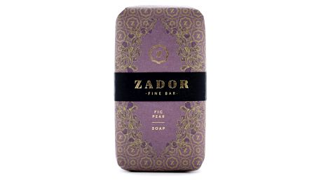 ZADOR Luxusní mýdlo ZADOR - Fík a hruška, fialová barva