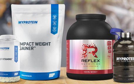 Výživové doplňky: vitamíny, proteiny i dárek