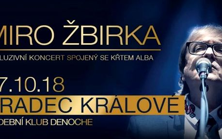Exkluzívní koncert se křtem nového alba Miro Žbirky