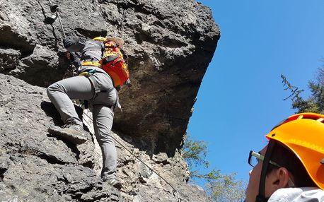 Zážitkové Via ferrata lezení s trenérem v Táboře