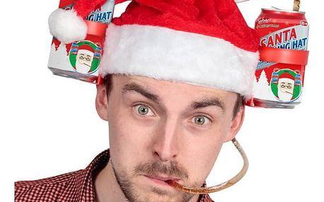 Zábavná vánoční čepice DRINK
