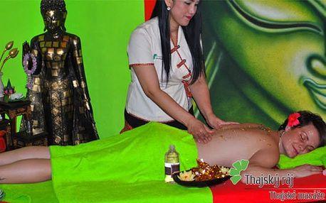 60minutová thajská nebo relaxační olejová masáž pro 1 v salonu Thajský ráj v Praze