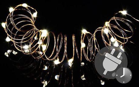 Nexos 47232 Vánoční světelný řetěz - MINI 100 LED s časovačem - teple bílá