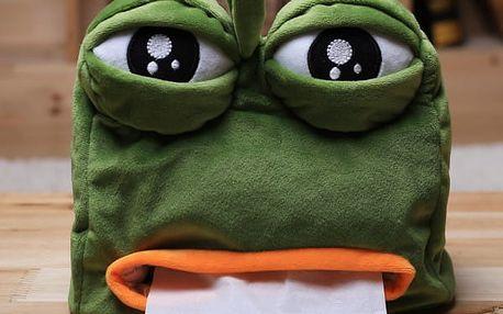 Plyšový zásobník na kapesníčky Žába