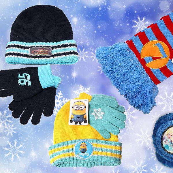 Dětské zimní doplňky s oblíbenými motivy