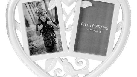 Fotorámeček na 2 fotky SRDCE - galerie na fotky Home Styling Collection
