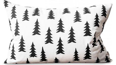 Fine Little Day Povlak na polštář Gran Black 40x60 cm, černá barva, bílá barva, textil