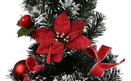 Vánoční stromek s poinsettií Rojo červená, 50 cm