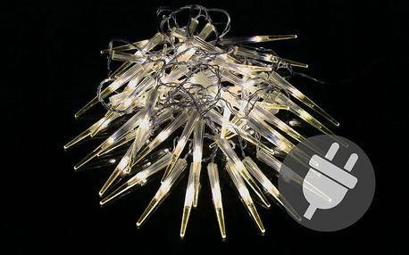 Nexos 5959 Vánoční dekorativní osvětlení - rampouchy - 60 LED teple bílá