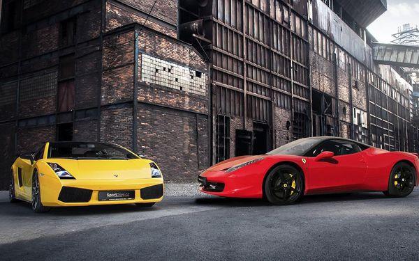 Jízda v supersportu Ferrari 458 Italia nebo Lamborghini Gallardo
