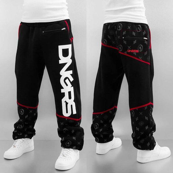 Dangerous DNGRS / Sweat Pant Crosshair Sweat Pants in black S3