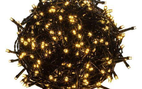 VOLTRONIC® 39453 Vánoční LED osvětlení 10 m - teple bílá 100 LED - zelený kabel