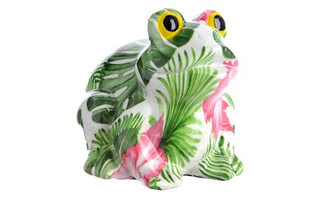 Dekorační žába Tropical, 15 cm