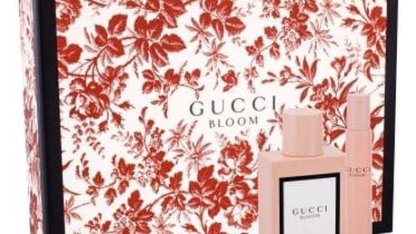 Gucci Bloom dárková kazeta pro ženy parfémovaná voda 50 ml + parfémovaná voda 7,4 ml