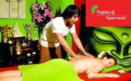 Thajská masáž zad a šíje nebo masáž nohou a Garra Rufa v salonech Thajský ráj v Praze