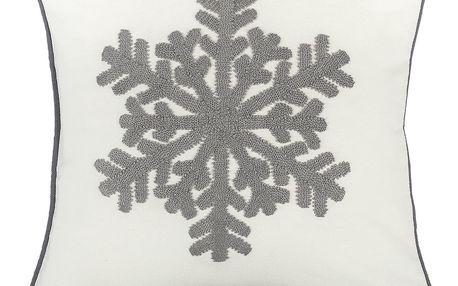 Dakls Povlak na polštář Snowflake bílá, 40 x 40 cm
