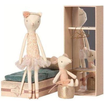 Maileg Kočičí a myší slečna tanečnice, multi barva, textil