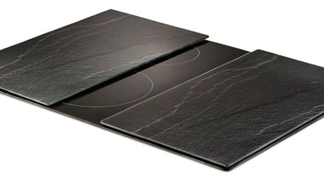 Ochranné skleněné panely ANTHRACITE SLATE na sporák – 2 ks, ZELLER