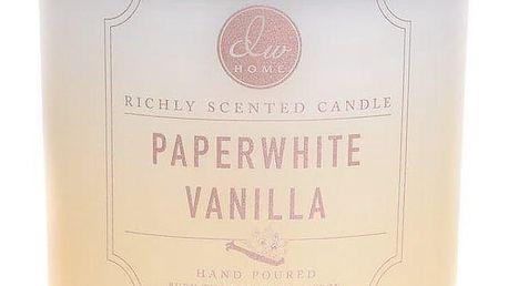 dw HOME Mini vonná svíčka ve skle Paperwhite Vanilla 108gr, žlutá barva, sklo