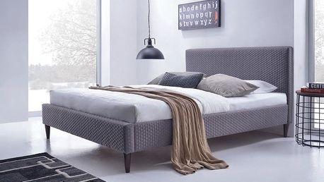 FLEXY łóżko tapicerowane popiel (2p=1szt)