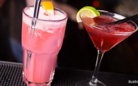 Koktejly pro 2 i 4 ve stylovém baru u Stodolní
