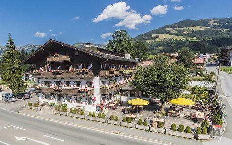 Útulný hotel v tyrolském stylu v malebné krajině Kitzbühelských Alp