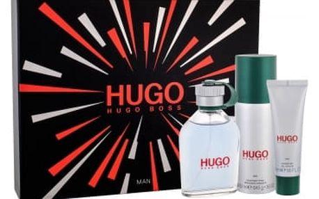 HUGO BOSS Hugo Man dárková kazeta pro muže toaletní voda 125 ml + deodorant 150 ml + sprchový gel 50 ml